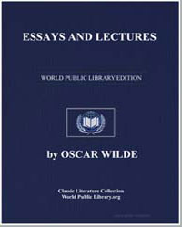 Essays and Lectures by Wilde, Oscar