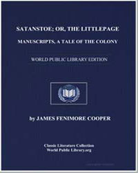 Satanstoe; Or, The Littlepage Manuscript... by Cooper, James Fenimore