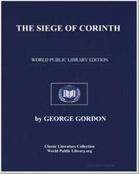 The Siege of Corinth by Byron, Lord
