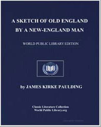 A Sketch of Old England, By a New-Englan... by Paulding, James Kirke