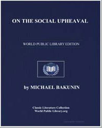 On the Social Upheaval by Bakunin, Michael
