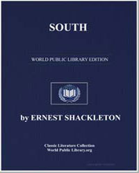 South by Shackleton, Sir Ernest