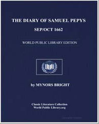 The Diary of Samuel Pepys, Sep/Oct 1662 by Bright, Mynors