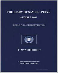 The Diary of Samuel Pepys, Aug/Sep 1666 by Bright, Mynors