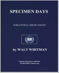 Specimen Days by Whitman, Walt