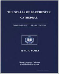 The Stalls of Barchester Cathedral by James, M. R.