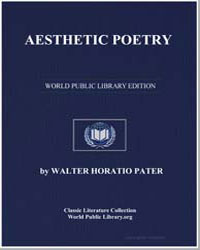 Aesthetic Poetry by Pater, Walter Horatio