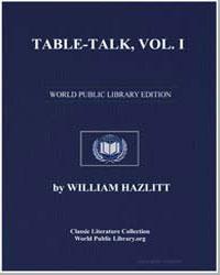 Table-Talk by Hazlitt, William