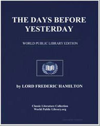 The Days before Yesterday by Hamilton, Lord Frederic