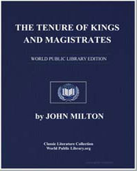 The Tenure of Kings and Magistrates by Milton, John