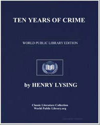 Ten Years of Crime by Lysing, Henry