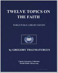 Twelve Topics on the Faith by Thaumaturgus, Gregory