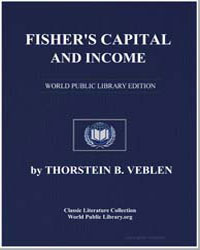 Fisher's Capital and Income by Veblen, Thorstein