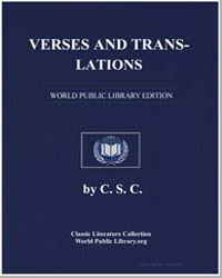 Verses and Translations by Calverley, C. S.