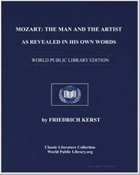 Mozart : The Man and the Artist, As Reve... by Kerst, Friedrich
