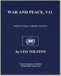 War and Peace, Volume 11 by Tolstoy, Leo