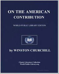 On the American Contribution by Churchill, Winston, Sir