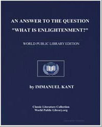 An Answer to the Question : What Is Enli... by Kant, Immanuel