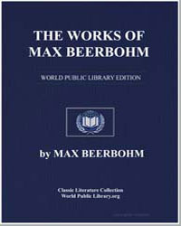 The Works of Max Beerbohm by Beerbohm, Max