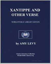 Xantippe and Other Verse by Levy, Amy