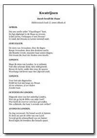 Kwatrijnen Jacob Israel de Haan by Haan, Jacob Israel De