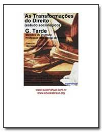 As Transformacoes Do Direito (Estudo Soc... by Tarde, Gabriel