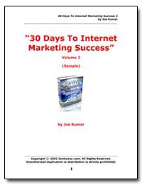 30 Days to Internet Marketing Success by Kumar, Joe