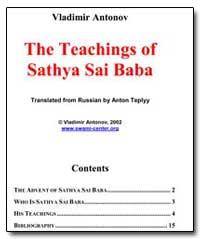 The Teachings of Sathya Sai Baba by Teplyy, Anton