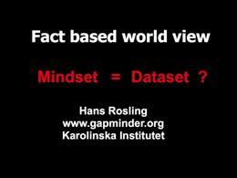 TEDtalks Conference, State : Hans Roslin... by Hans Rosling