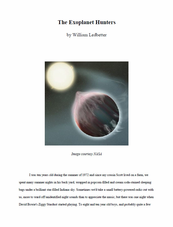 The Exoplanet Hunters by Ledbetter, William