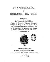 Biblioteca Hispanica : Uranography or De... by Arriga, José