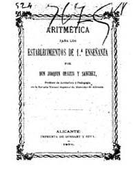 Biblioteca Hispanica : Arithmetic for 1S... by Orozco and Sanchez, Joaquin
