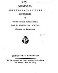 Biblioteca Digital Hispanica : Memoir on... by Alvear, Miguel De