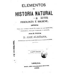 Biblioteca Hispanica : Elements of Natur... by Albinana, Joseph