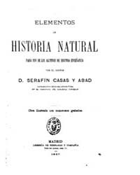 Biblioteca Hispanica : Elements of Natur... by Homes and Abad, Serafin