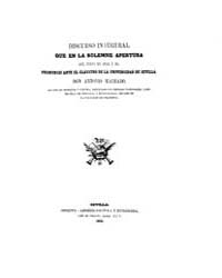 Biblioteca Hispanica : Inaugural Speech ... by MacHADO and Nunez, Antonio