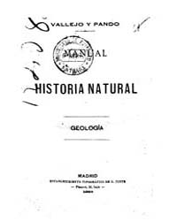 Biblioteca Hispanica : Manual Natural Hi... by Vallejo and Pando, Luis De