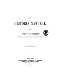 Biblioteca Hispanica : New Elements of N... by Bolivar, Ignacio