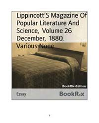 Lippincotts Magazine of Popular Literatu... by