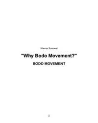 Why Bodo Movement? by Sonowal, Khema