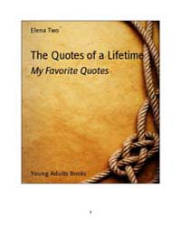 The Quotes of a Lifetime by Two, Elena