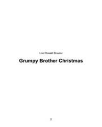 Grumpy Brother Christmas by Lord, Ronald, Streeter