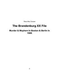 The Brandenburg Xx File by Duncan, Ross Mac