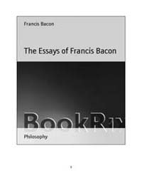 The Essays of Francis Bacon by Bacon, Francis