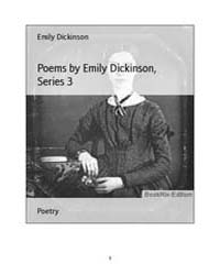 Poems by Emily Dickinson, Series 3 by Dickinson, Emily