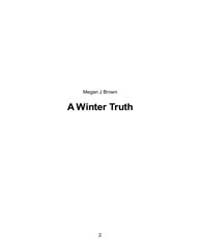 A Winter Truth by Megan, Brown