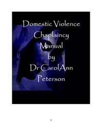 Domestic Violence Chaplaincy by Carolann Peterson
