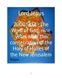 2000.12.12 - the Word of God, Nine Years... by Lord Jesus
