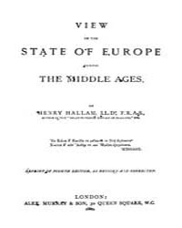 View of the State of Europe During the M... by Hallam, Henry