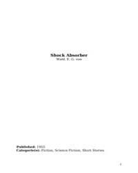 Shock Absorber by Wald, E. G. Von